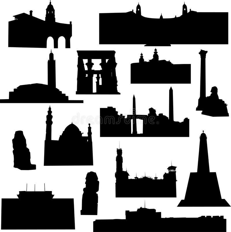 afrykańska architektura royalty ilustracja