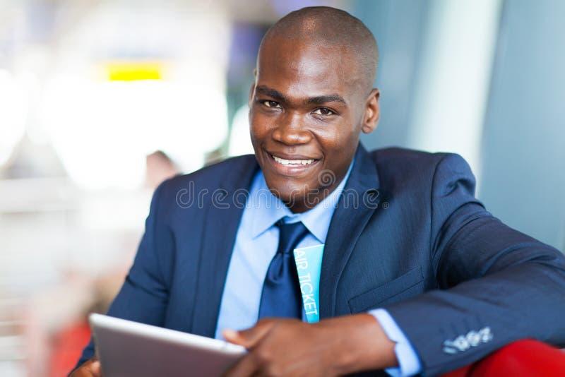 Afrykańska biznesmen pastylka obrazy stock