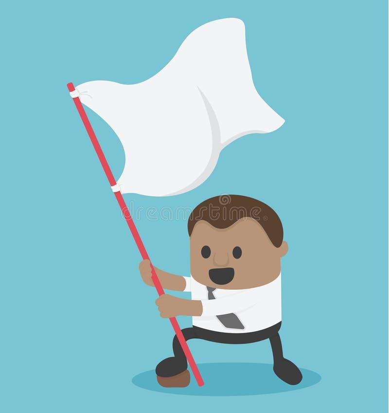 Afrykańska biznesmena mienia sukcesu flaga pozycja royalty ilustracja