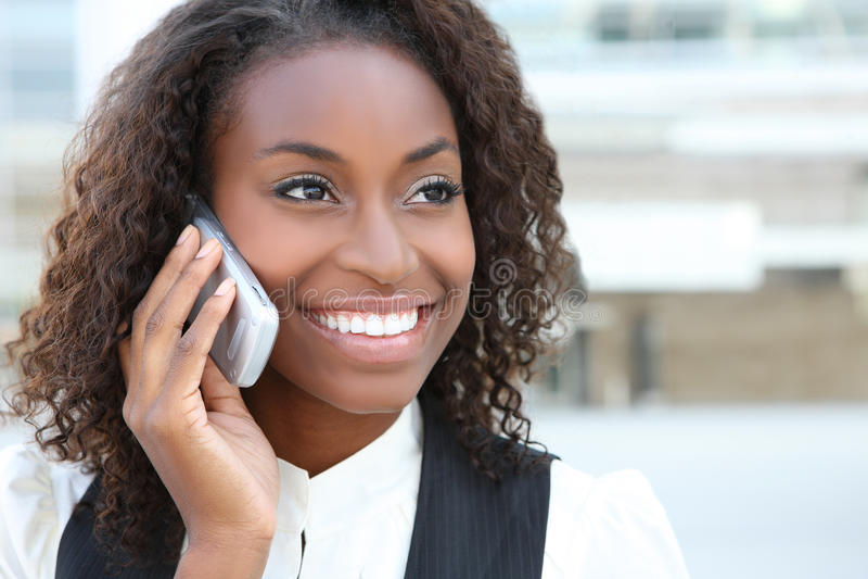 afrykańska biznesowa ładna kobieta obraz stock