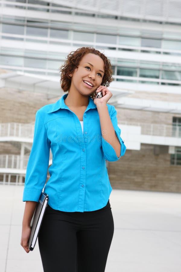 afrykańska biznesowa ładna kobieta fotografia stock