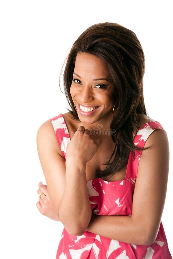 afrykańska biznesowa roześmiana kobieta fotografia royalty free