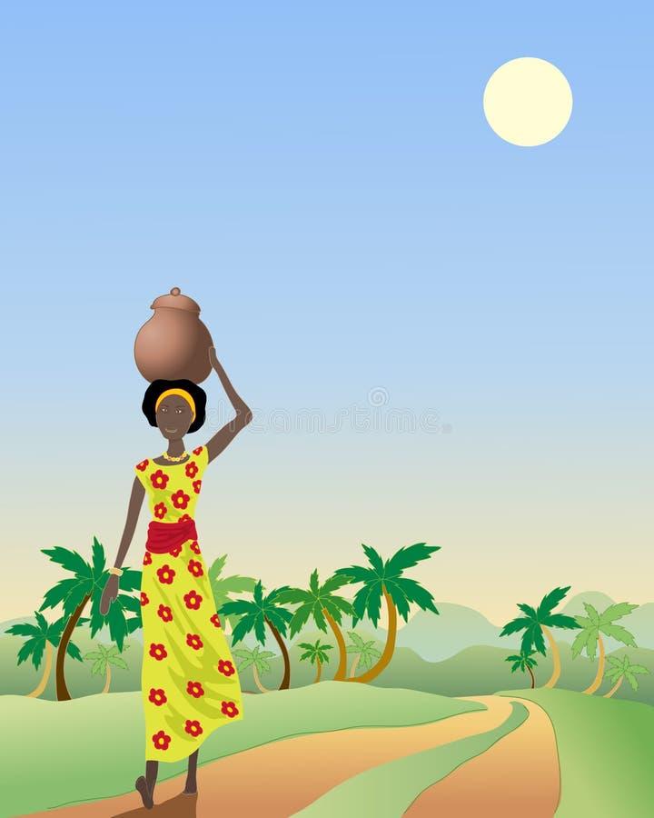 afrykańska dama royalty ilustracja