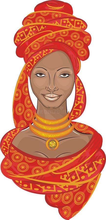 afrykańska dziewczyna ilustracji
