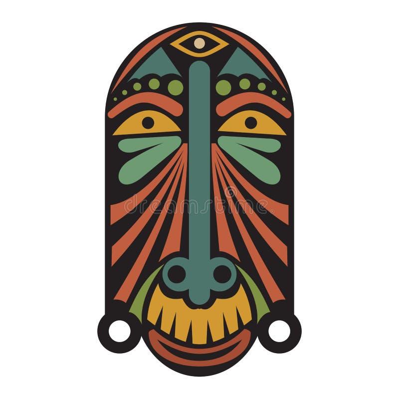 afrykańska etniczna maska ilustracji