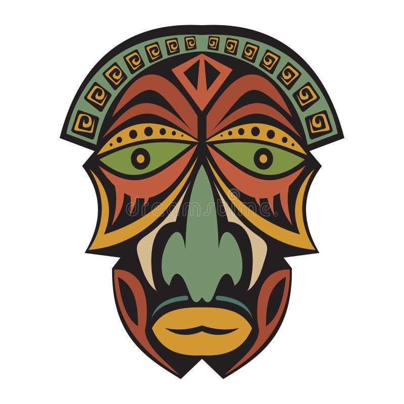 afrykańska etniczna maska ilustracja wektor
