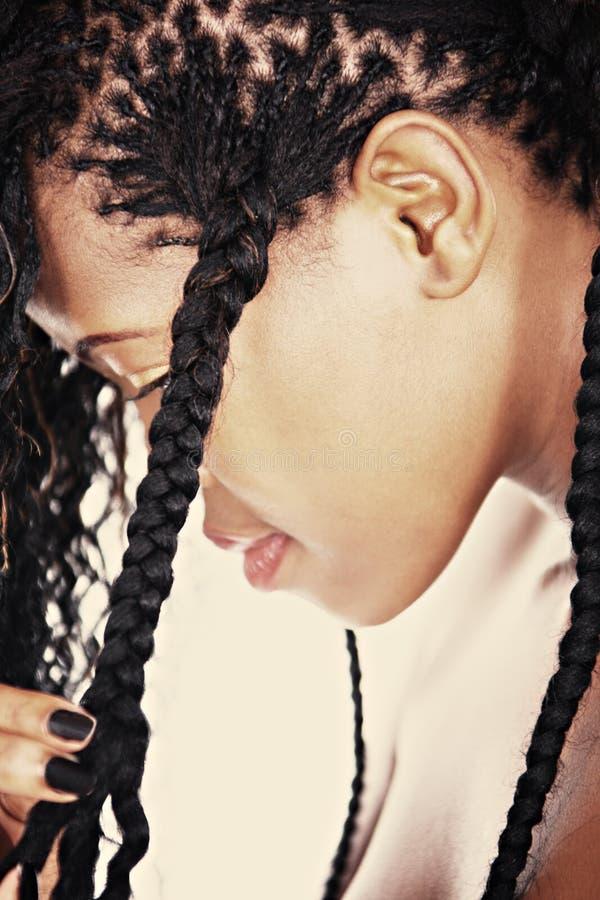 afrykańska fryzura zdjęcia stock