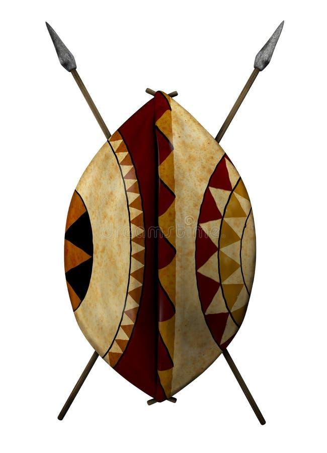afrykańska osłona ilustracja wektor