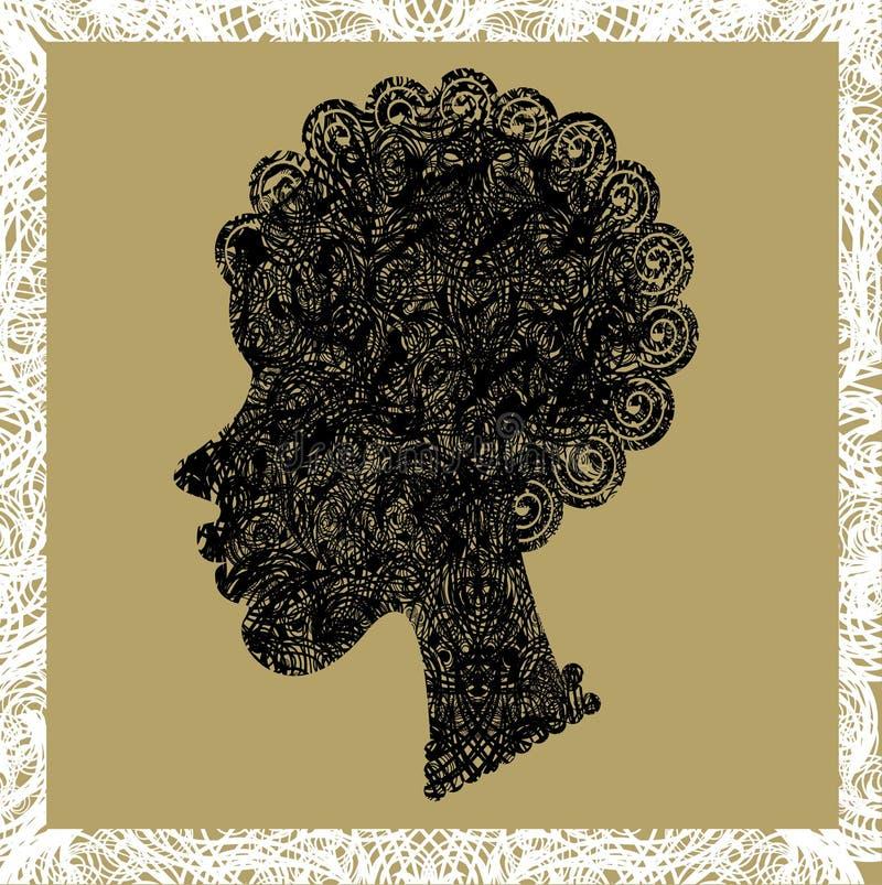 afrykańska piękna dziewczyna ilustracji