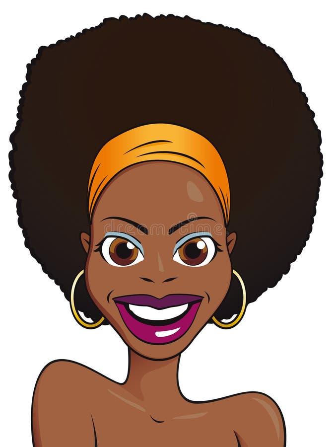 afrykańska piękna dziewczyna ilustracja wektor