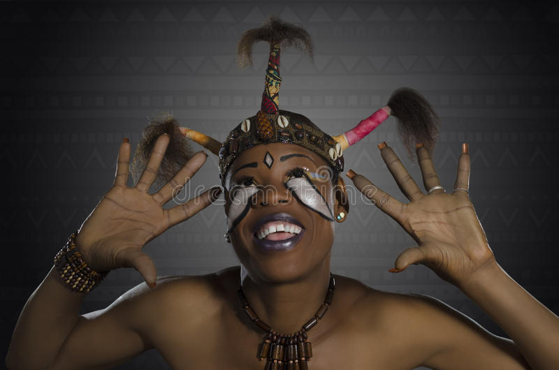 Afrykańska piękno fantazja zdjęcia stock