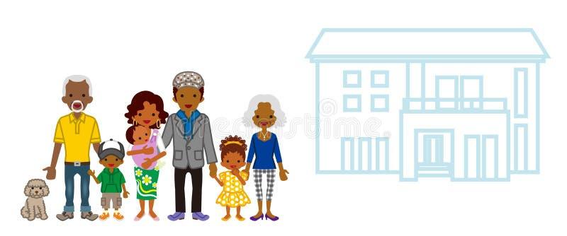 Afrykańska pokolenie rodzina z siedzibą royalty ilustracja