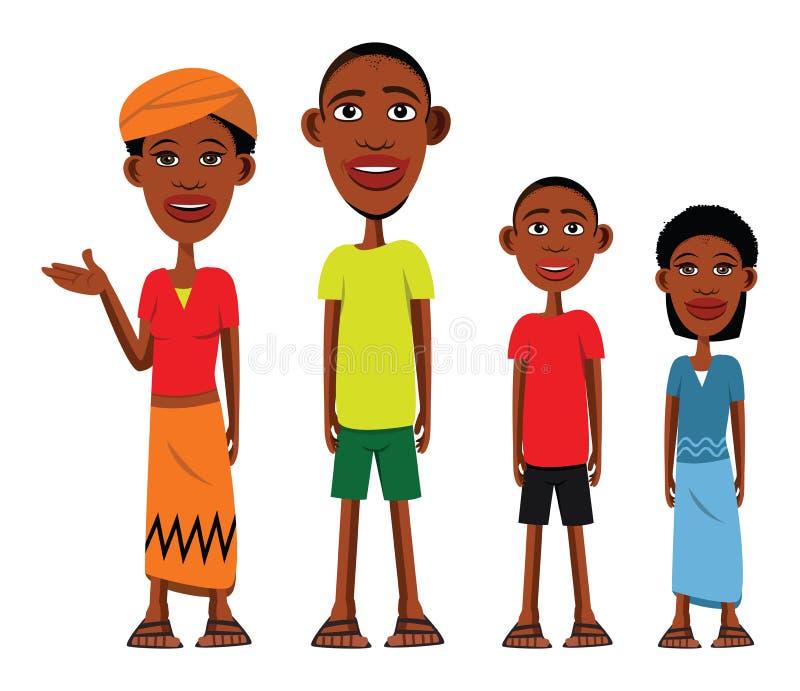 afrykańska rodzina royalty ilustracja