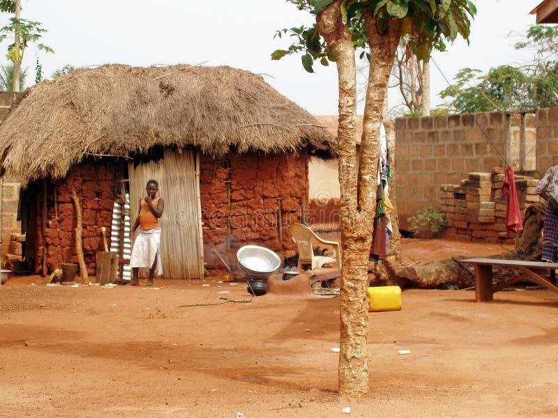 afrykańska wioska obraz royalty free