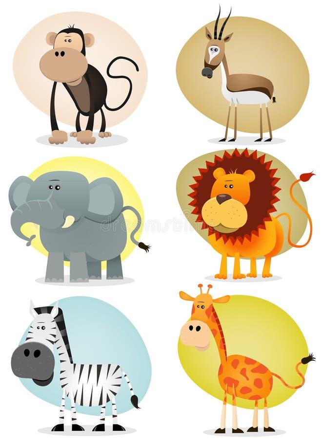 afrykańska zwierząt kolekci dżungla ilustracja wektor