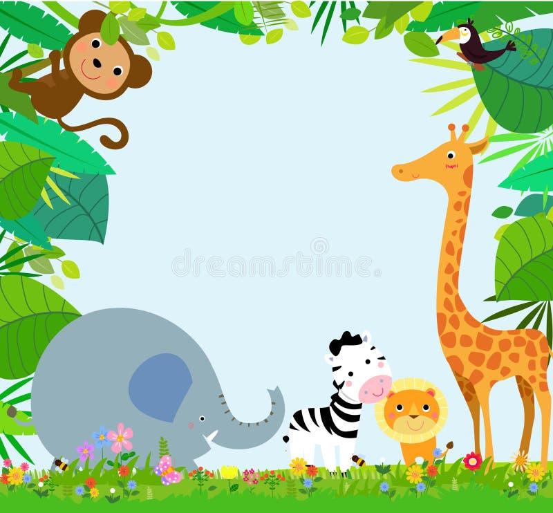 Afrykańska zwierzę rama ilustracji