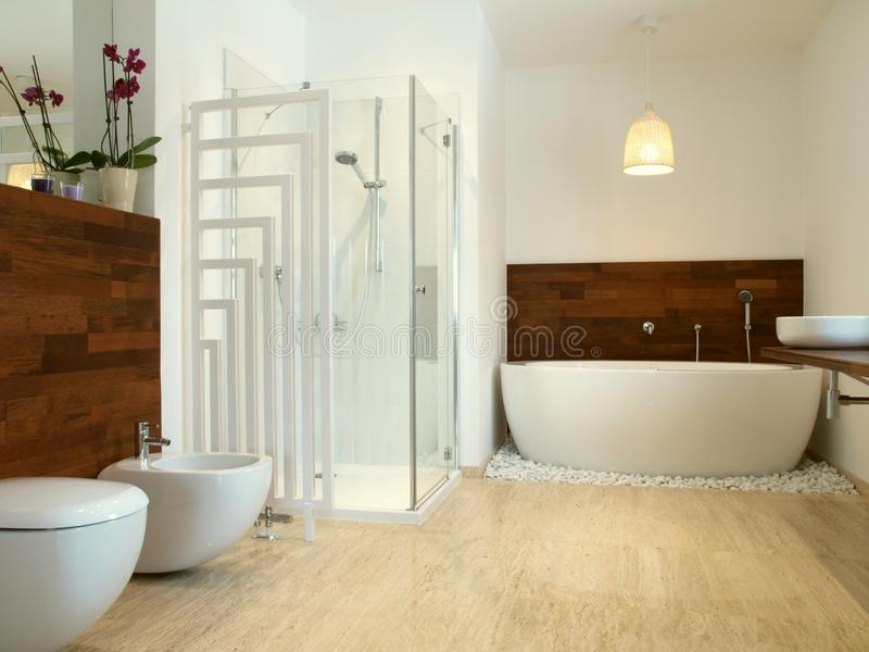 afrykański łazienki egzota stylu drewno zdjęcia stock