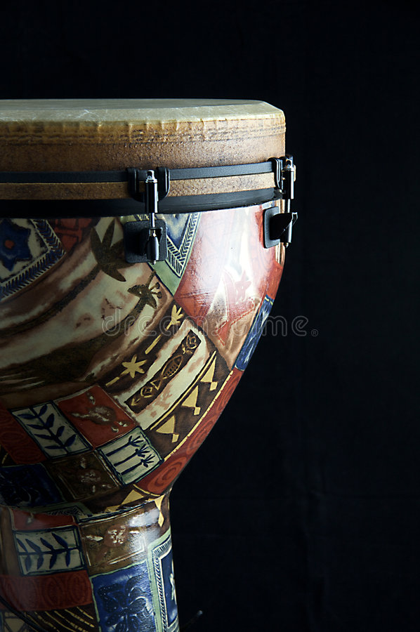 afrykański bęben djembe bk czerni fotografia royalty free