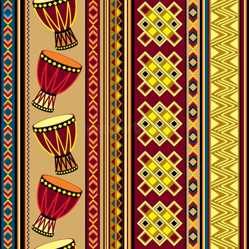 Afrykański bębenu tło royalty ilustracja
