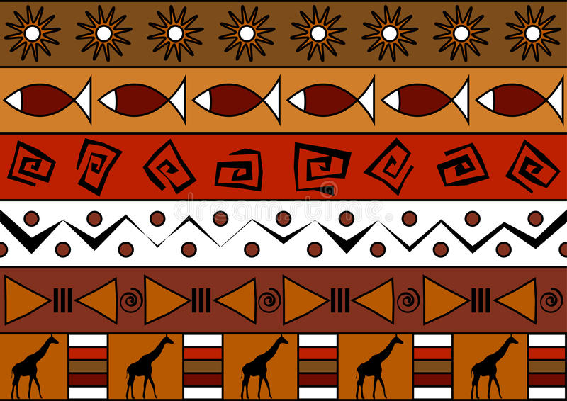 Afrykański bezszwowy wzór ilustracji