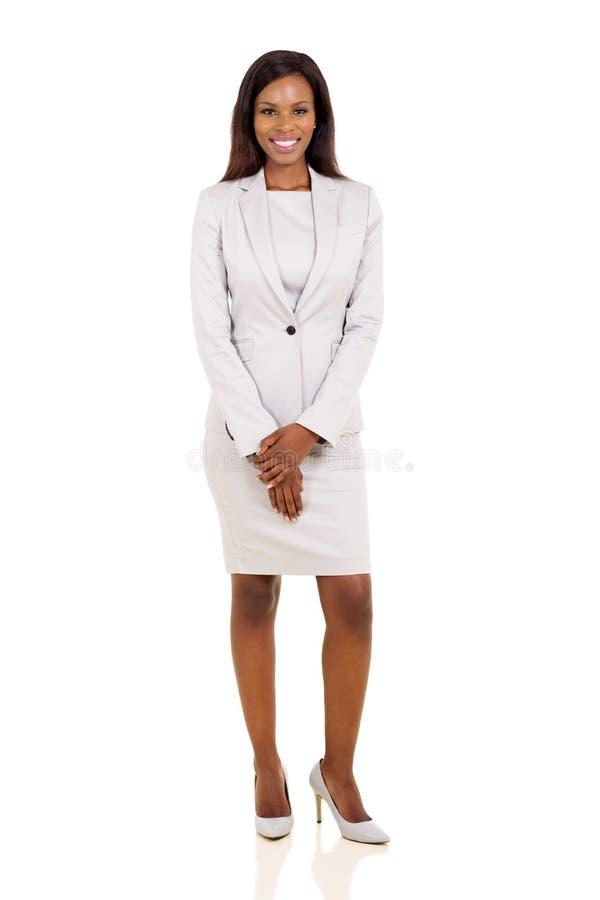 Afrykański bizneswomanu kostium zdjęcie stock