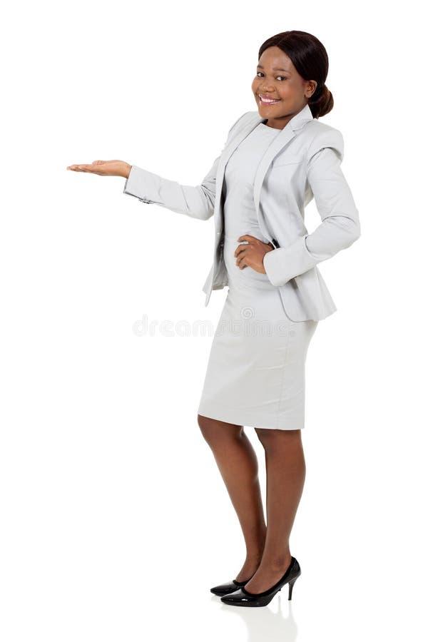 Afrykański bizneswomanu przedstawiać fotografia royalty free