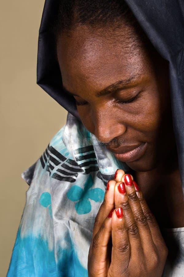 afrykański chrześcijańska kobieta obraz stock