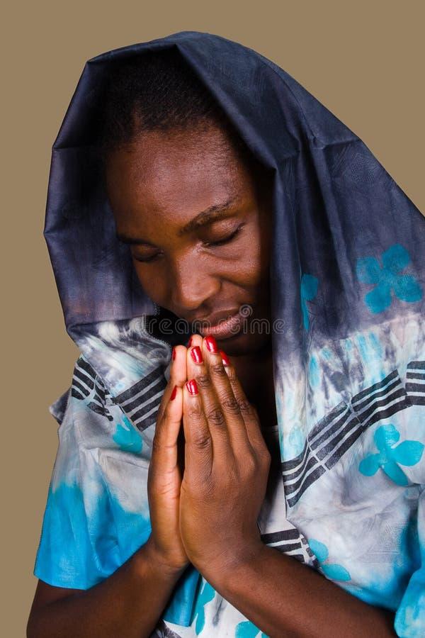 afrykański chrześcijańska kobieta fotografia stock