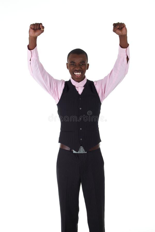 afrykański czarny biznesmen obraz stock