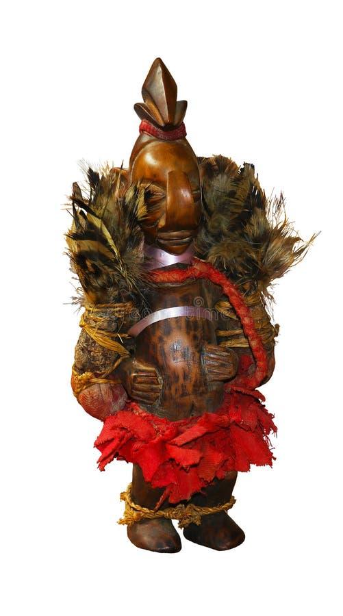 Afrykański drewniany ochronny posążek bóg obraz stock