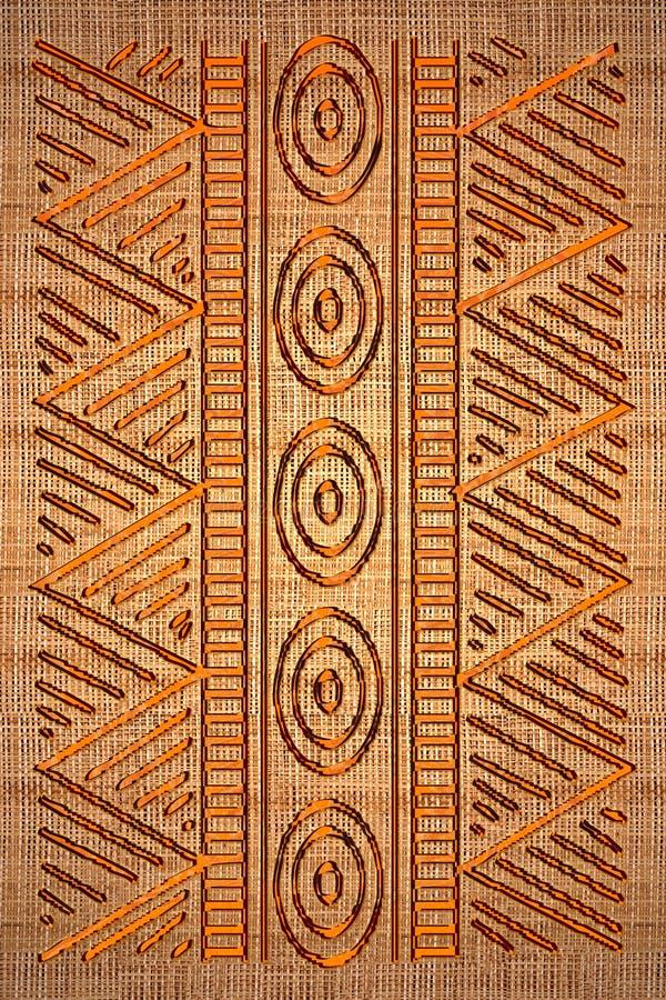 Afrykański dywanik ilustracja wektor