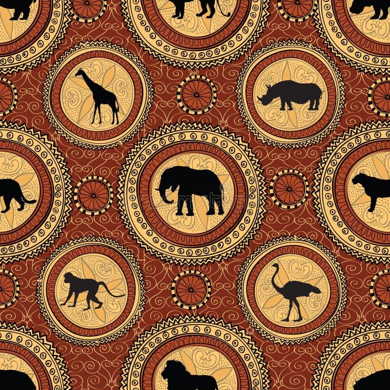Afrykański etniczny bezszwowy wzór Abstrakty textured tło wi ilustracja wektor