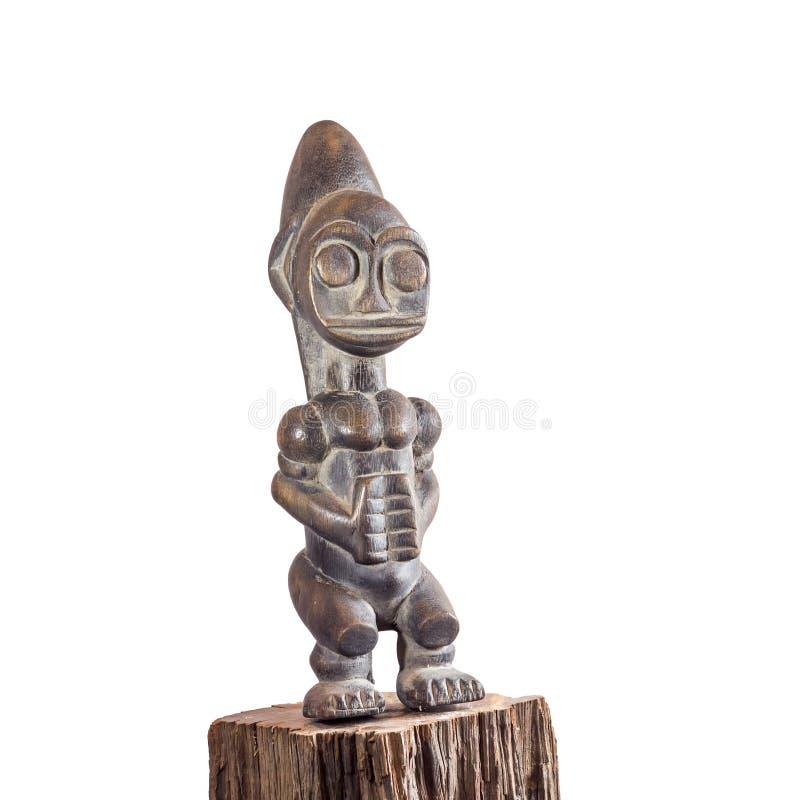 Afrykański etniczny drewniany cyzelowanie zdjęcia royalty free