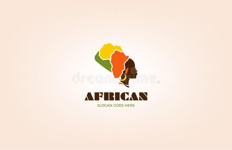 Afrykański Etniczny loga projekta szablon ilustracja wektor