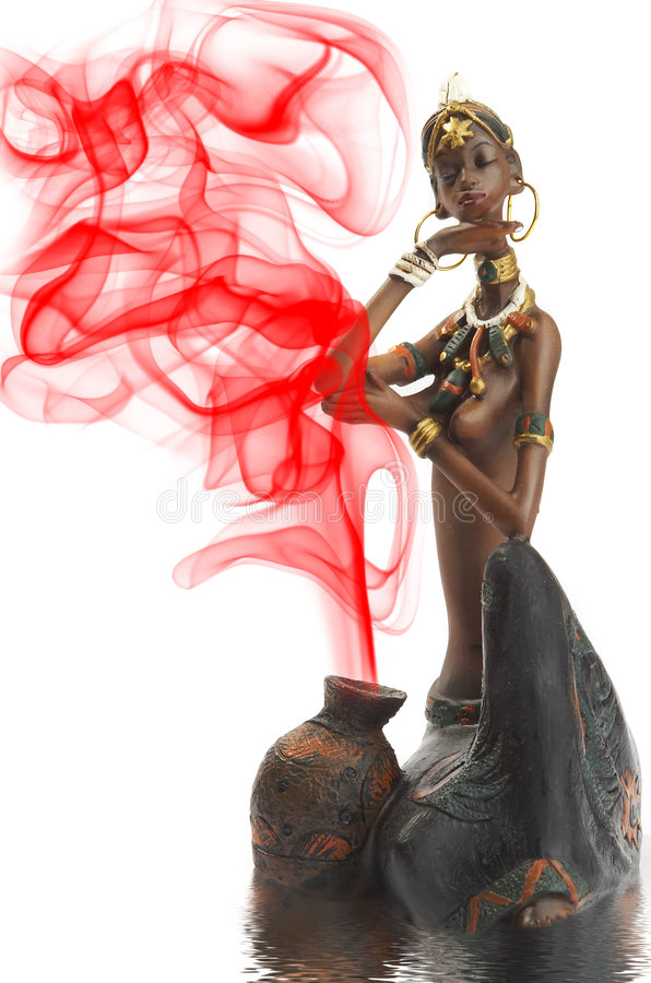 afrykański figurki dziewczyna fotografia stock