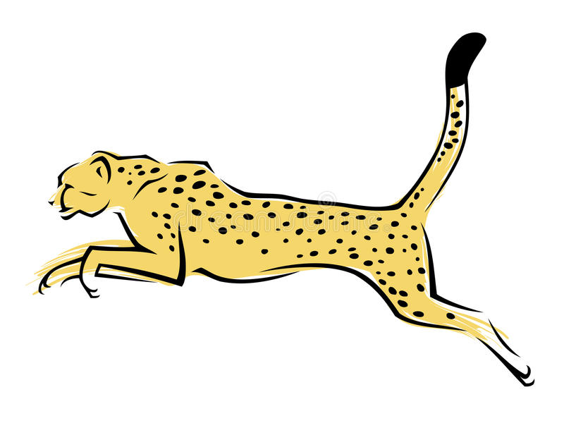 Afrykański gepard ilustracji