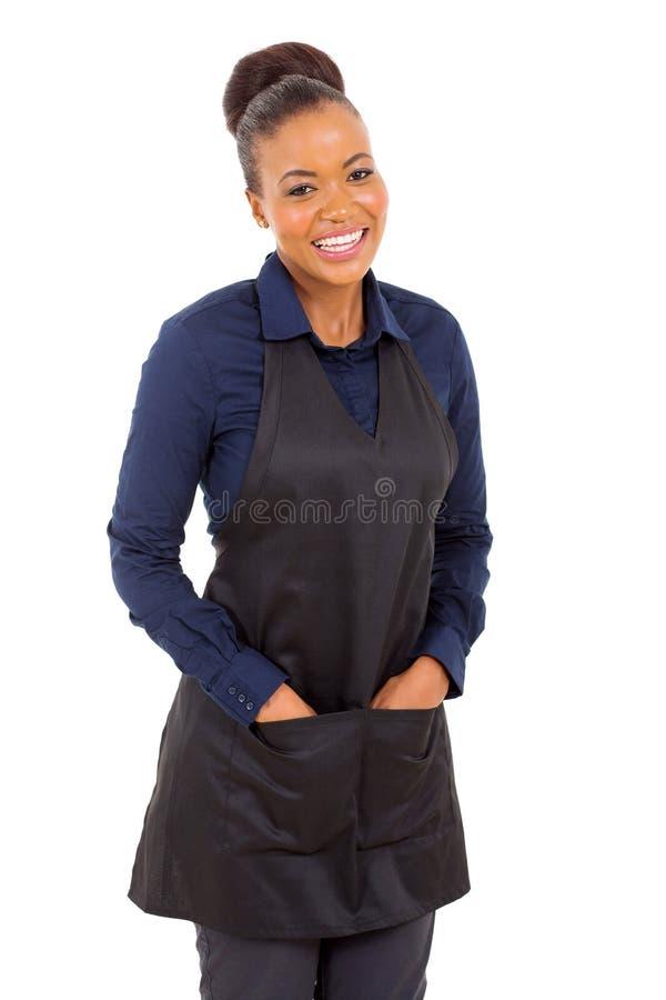 Afrykański kelnerka portret fotografia stock
