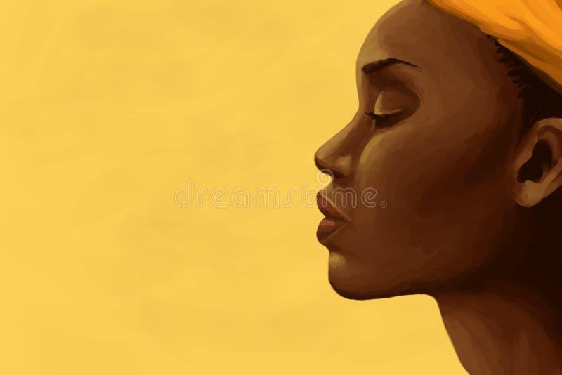afrykański kobieta royalty ilustracja