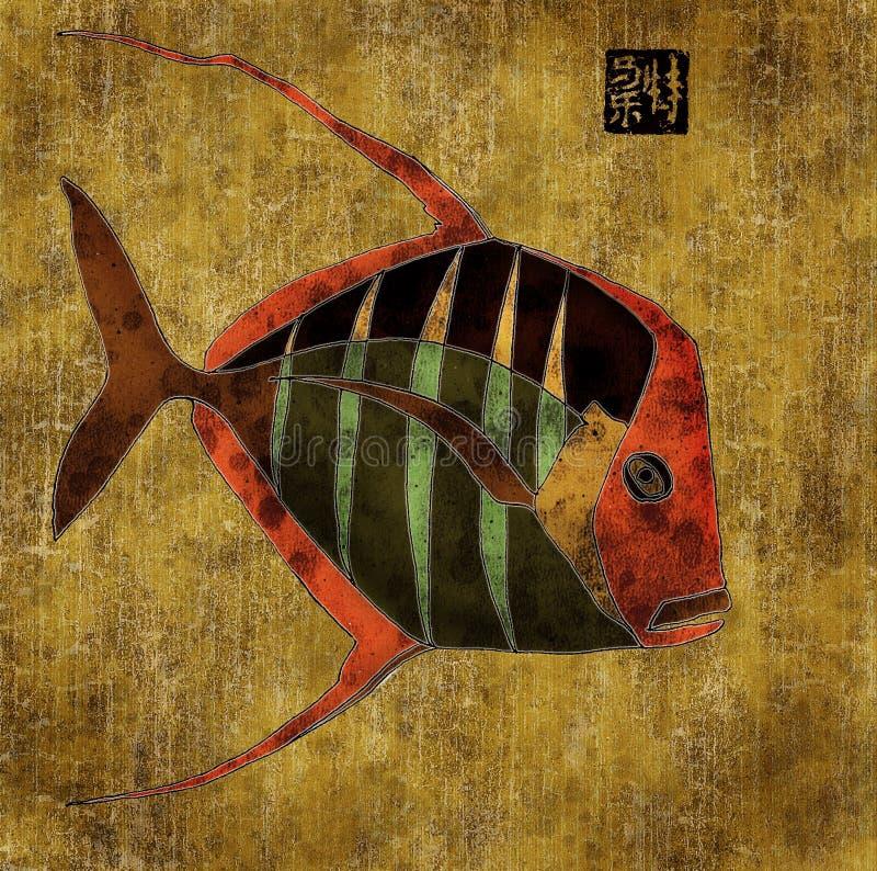 afrykański kolaż ryb ilustracji