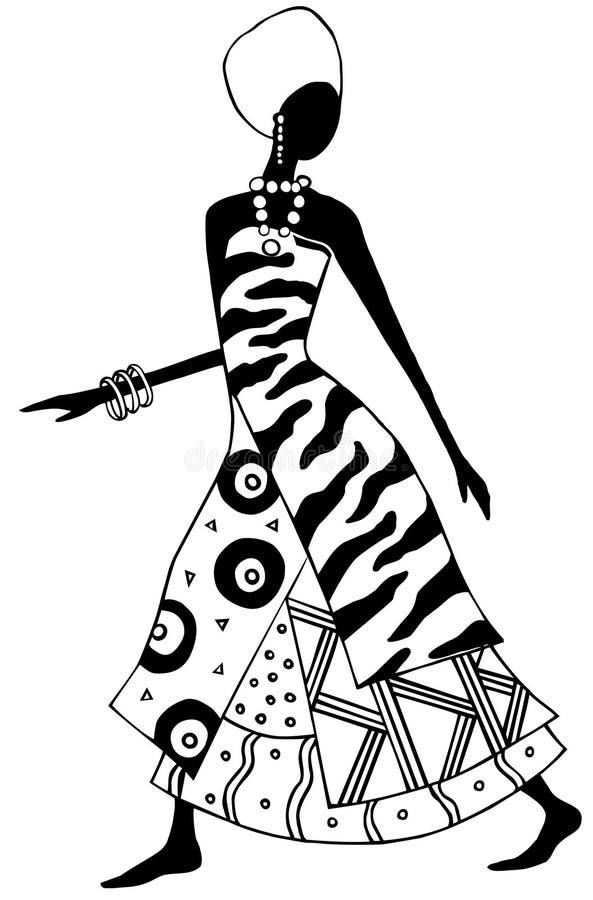 afrykański lady royalty ilustracja
