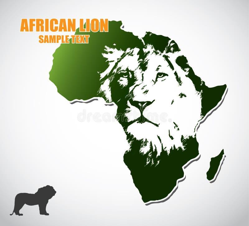 Afrykański lew royalty ilustracja