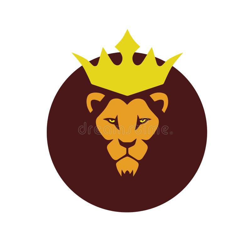 Afrykański lwa królewiątko royalty ilustracja