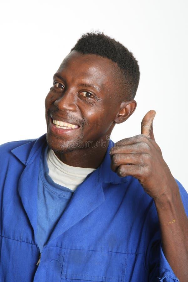 afrykański mężczyzna afrykański kciuk s zdjęcie stock