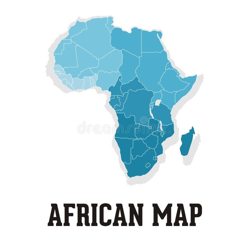 Afrykański mapa logo