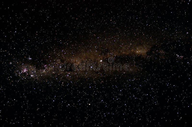 Afrykański nocnego nieba i gwiazd tło fotografia royalty free