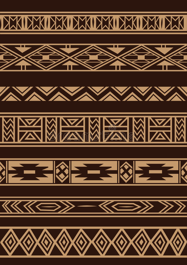 Afrykański ornament ilustracja wektor