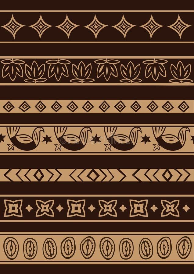 Afrykański ornament royalty ilustracja