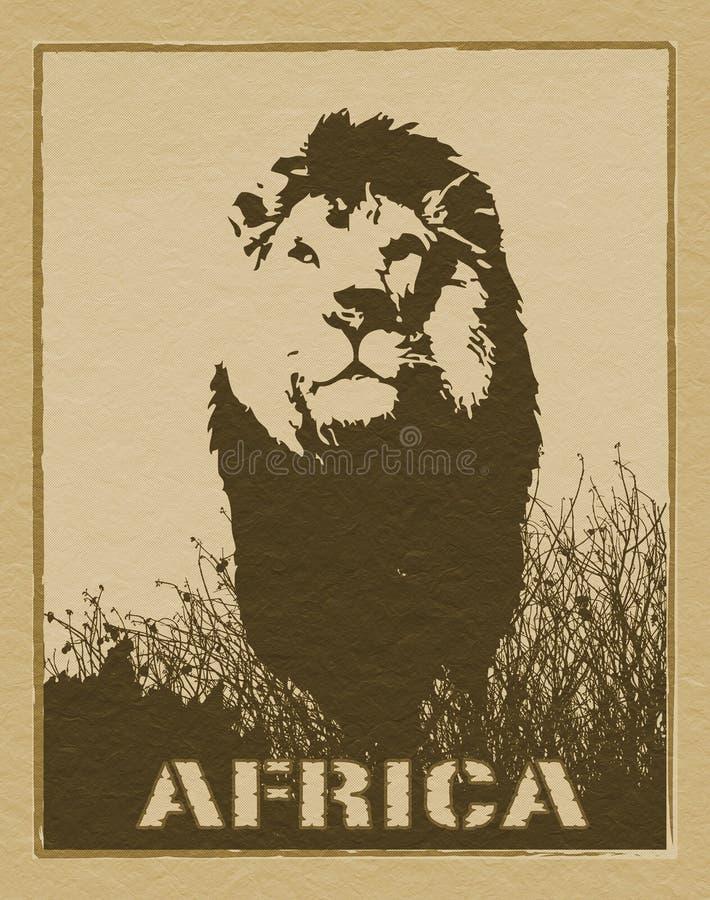 afrykański plakat zdjęcia royalty free