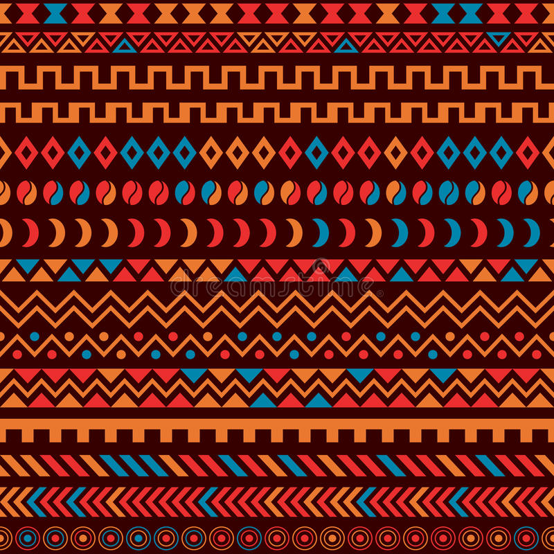 Afrykański Plemienny Deseniowy Etniczny ornament royalty ilustracja