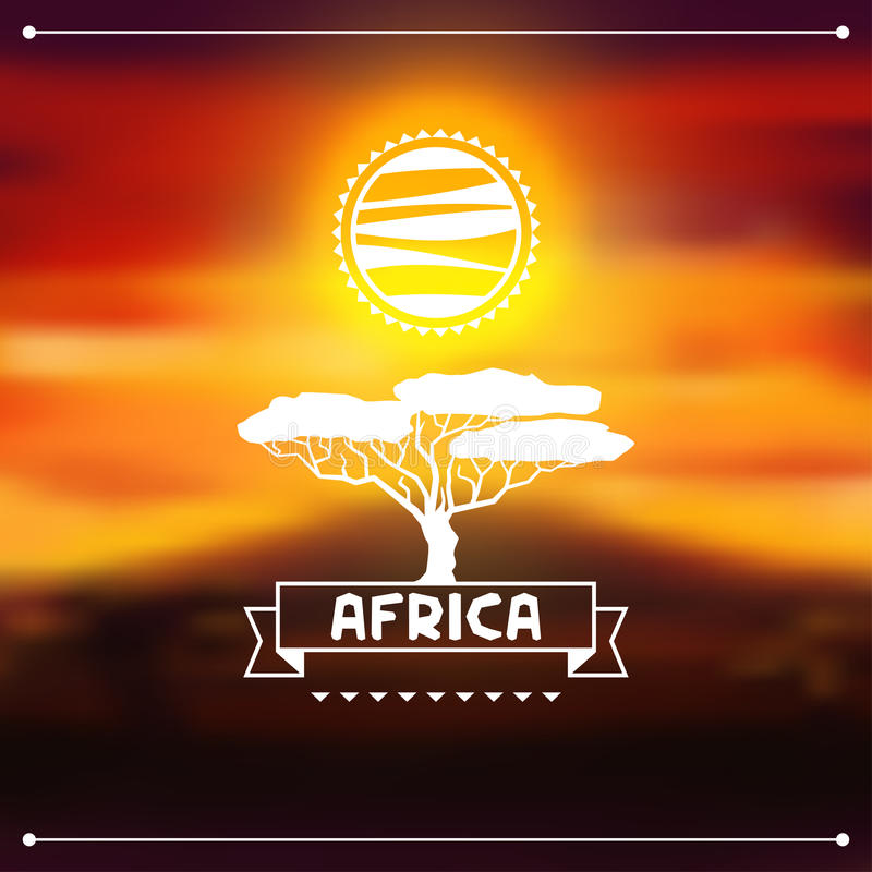 Afrykański pochodzenie etniczne na wieczór sawannie